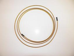 """1/8"""" BRAIDED BRASS EXPANDABLE FLEX SLEEVE, WIRING HARNESS, L"""
