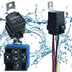 1 pack 40 30 amp waterproof relay and harness  automotive wiring harness pin styles #15