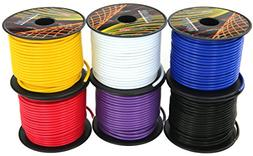 14 Gauge 6 Roll CCA Primary Wire Combo | 100 ft per roll, 60