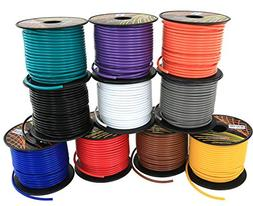 16 GA Primary Wire 10 Roll Color Combo | 100 ft per Color  C