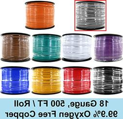 18 Gauge Ga OFC Oxygen Free Copper Primary Wire in 500 Feet