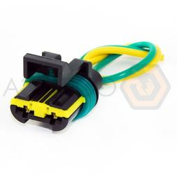 1x Connector 2-pin 2-way for Radiator Fan Chevrolet GM Opel