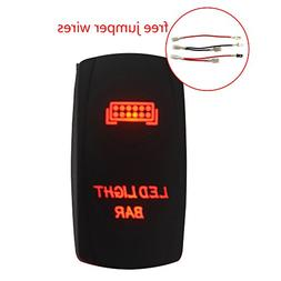 Mictuning 20A 12V ON/OFF Laser Rocker Switch 5Pin  with Jump
