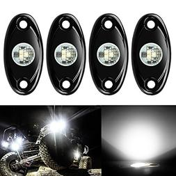 4 Pods LED Rock Lights Kit, Ampper Waterproof Underglow LED