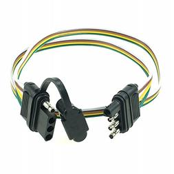 ANTO 4-Wire 4-Pin Plug Flat Connector Trailer Wiring Harness