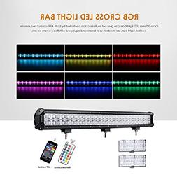 Auxbeam 44 Inch LED Light Bar RGB Multi-color LED Bar 5D 288