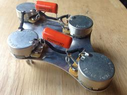 50's Wiring Harness Gibson Epiphone Les Paul 500k CTS Pots .