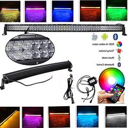 IOV LIGHT 52 inch 300w 5d Bluetooth RGB Led Light Bar Curved