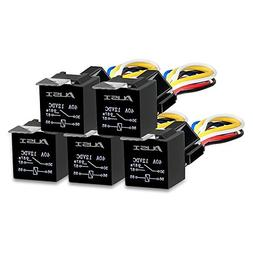 AUSI 5 Pack 5 Pin SPDT 30/40 AMPS 12V DC Automotive Waterpro