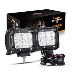 Auxbeam LED Light Bar 4 inch 18W LED Pods 1800lm Spot Beam D