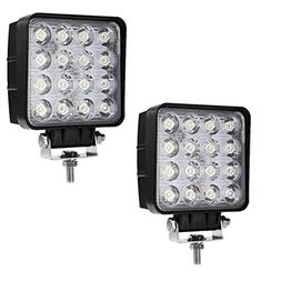 Auxbeam Led pods 4 inch 48W Led Light Bar Square Led Work Li
