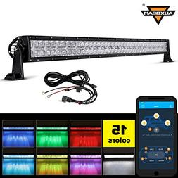 Auxbeam Multi Color LED light bar 42 Inch V Series RGB LED B