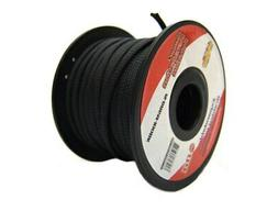 editorial pick black 1/4 100ft braided expandable flex sleeve wiring harnes