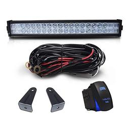 "DOT 22"" Inch 120W Led Light Bar Combo Grill Windshield Bumpe"