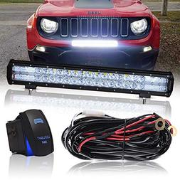 "DOT 20"" Inch 126W Led Light Bar Combo Grill Windshield Bumpe"