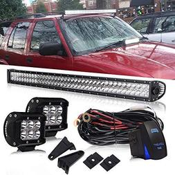 DOT 42Inch 240W Led Light Bar On Grill Windshield Bumper + 4