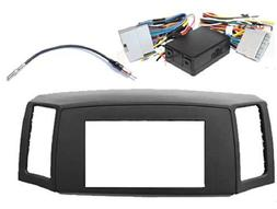 Double Din Navigation Radio Bezel Dash Install Kit with Prem