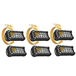 Eyourlife Led Work Light 6Pcs 7Inch 36W Flood Led Light Bar