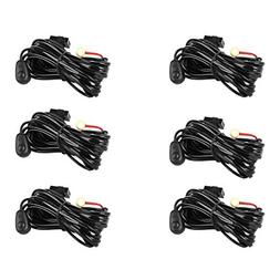 Eyourlife Wiring Harness,6Pcs LED Light Bar Wiring Harness K