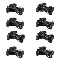 Eyourlife Wiring Harness,8Pcs LED Light Bar Wiring Harness K