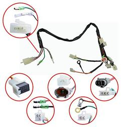 FLYPIG Wire Loom Harness Wiring Assembly for Yamaha PW50 PW
