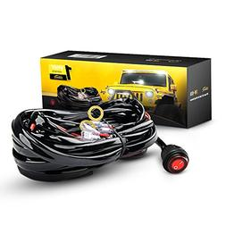 GOOACC Off Road LED Light Bar Wiring Harness Kit 12V On off