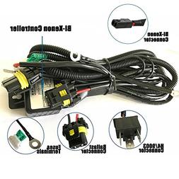H4 Wiring Harness High Low Beam HID Kit ... on