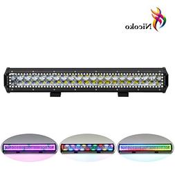 "Led Light Bar, Nicoko 20"" 126W CREE LEDS Flood Spot Combo Be"