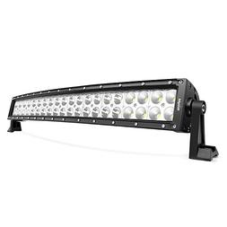Led Light Bar Nilight 22Inch 120W Curved Spot Flood Combo Le