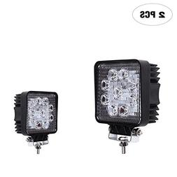Led Work Light , TURBOSII 2PCS 4inch 27W Flood Cube LED Ligh