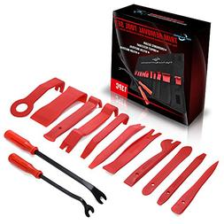 MICTUNING 13 Pcs Auto Trim Removal Tool Set with Fastener Re