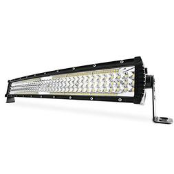 "MICTUNING GlowStar 22"" 5-Row Curved LED Light Bar, 13000LM S"