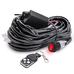 MICTUNING LED Light Bar Wiring Harness 40 Amp Relay Fuse ON-