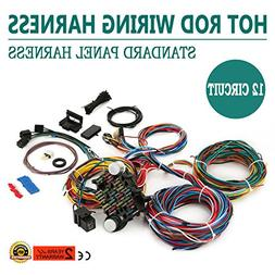 mophorn wiring harness kit 12 circuit hot rod universal wiri