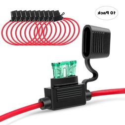 Nilight 10 Pack NI-FH01 Inline Holder 14AWG Wiring Harness A