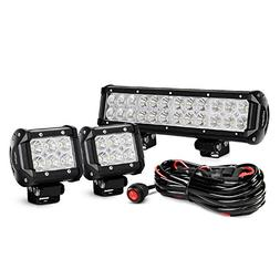 Stupendous Nilight 12 Inch 72W Spot Flood Combo Led Wiring 101 Archstreekradiomeanderfmnl