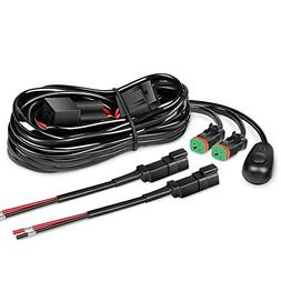 Nilight 16AWG DT Connector Wiring Harness Kit LED Light Bar