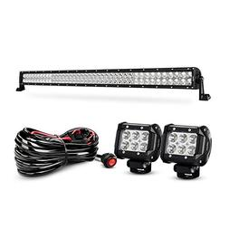 Nilight 42 Inch 240W Spot Flood Combo Led Light Bar 2PCS 4 I