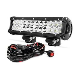 Nilight ZH007 Led Light Bar 12 Inch 72W Spot Flood Combo wit