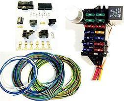 Street Rod Universal 14 Fuse 12-14 Circuit Wire Harness with