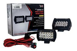 "T4 Series 5"" OZ-USA Triple Row LED Light Bar Spot Beam Drivi"