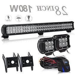 UNI FILTER DOT Approved 28 Inch 180W LED Light Bar Offroad +
