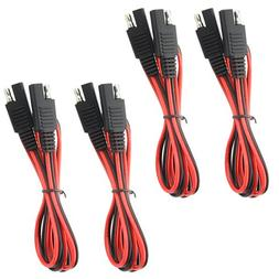 WGCD 4 PCS SAE to SAE Extension Cable Quick Disconnect Wire