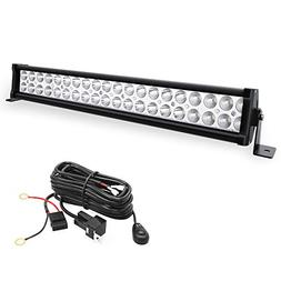 YITAMOTOR 24 Inch Light Bar Offroad Spot Flood Combo Led Bar