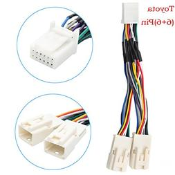 Auxillary Adapter,Yomikoo Y Cable Radio Wiring Harness for U