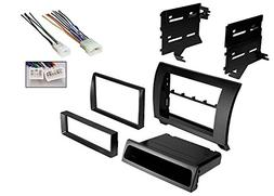 Car Radio Black Dash Kit Harness for 2007-2013 Toyota Tundra