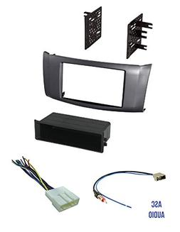 ASC Premium Car Stereo Charcoal Gray Install Dash Kit, Wire