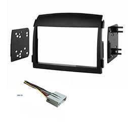 Car Stereo Dash Kit and Wire Harness for Installing a Double