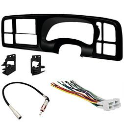 Double DIN Dash Kit - Wiring Harness - Radio Antenna Adapter