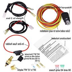 Dual Electric Cooling Fan Wire Harness Kit 185 On 165 Off Th